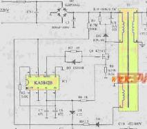 KA3842组成的笔记本电源适配器开关电源电路