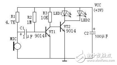 声控闪光灯电路图大全(驻极体电容器话筒/高压闪光灯)