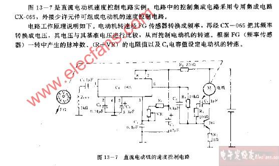 直流电动机的速度控制电路图  直流电动机电路图         脉冲驱动