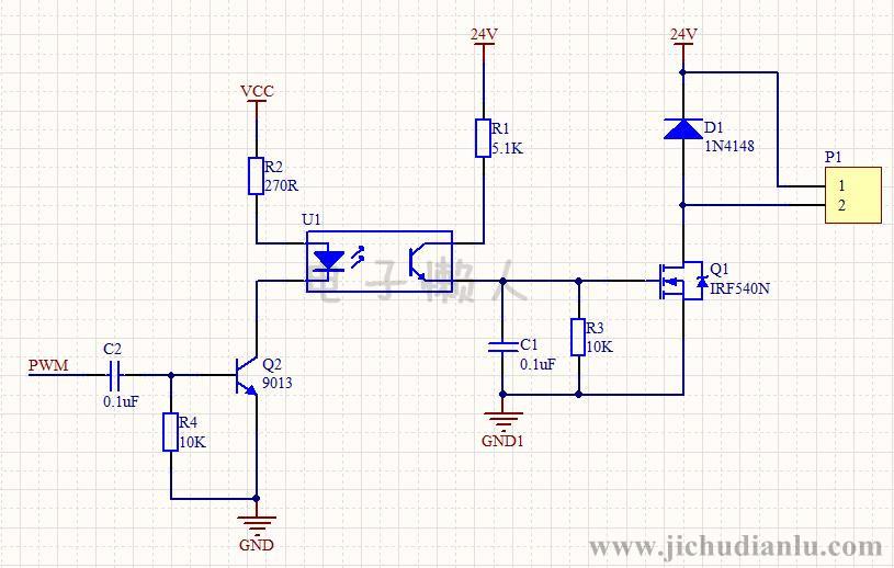 电磁阀pwm驱动电路的效果图演示_基础硬件电路图讲解