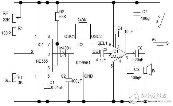 温度报警器电路设计方案汇总(四款报警器电路原理图详解) - 报警电路